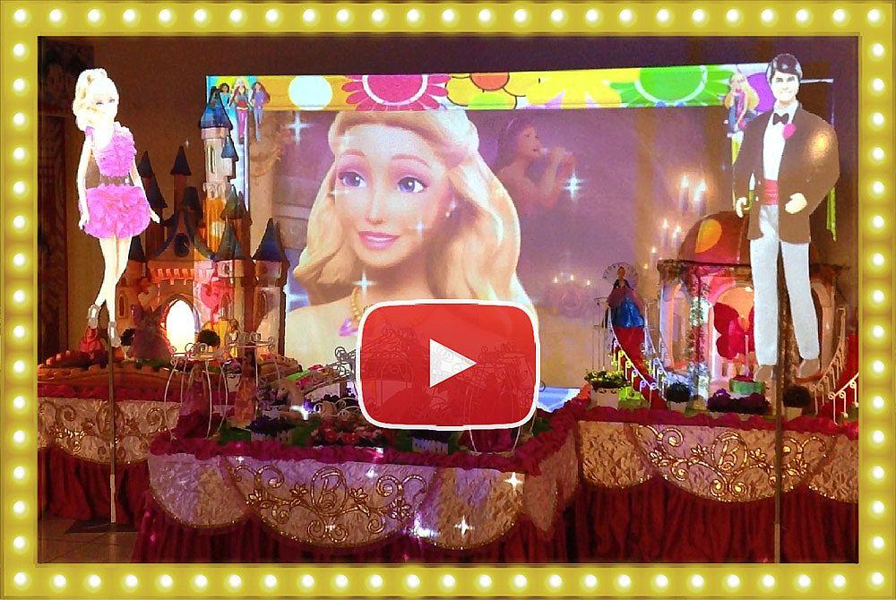 Projeção Mapeada Barbie Princesas