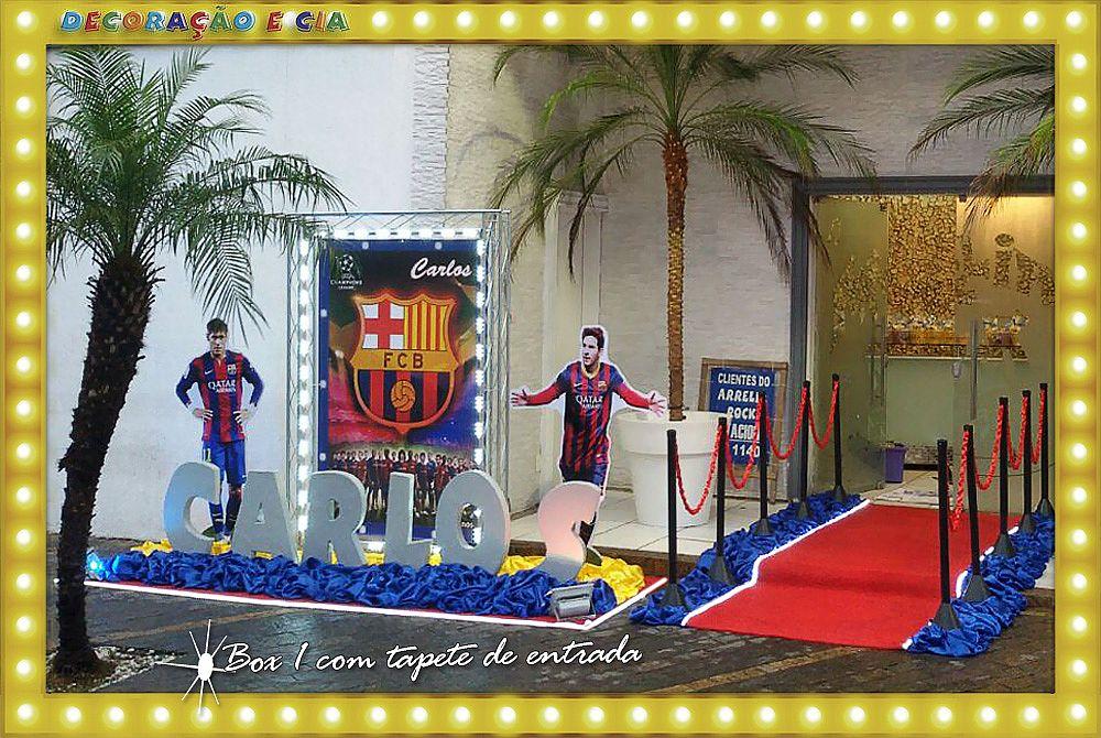 Futebol Barcelona – com tapete de entrada