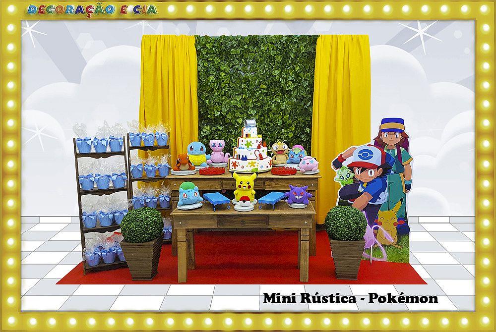 Mini Rústica – Pokémon