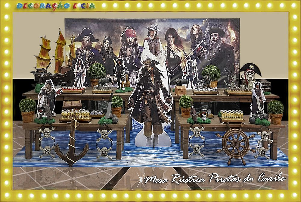 Rústica Piratas do Caribe
