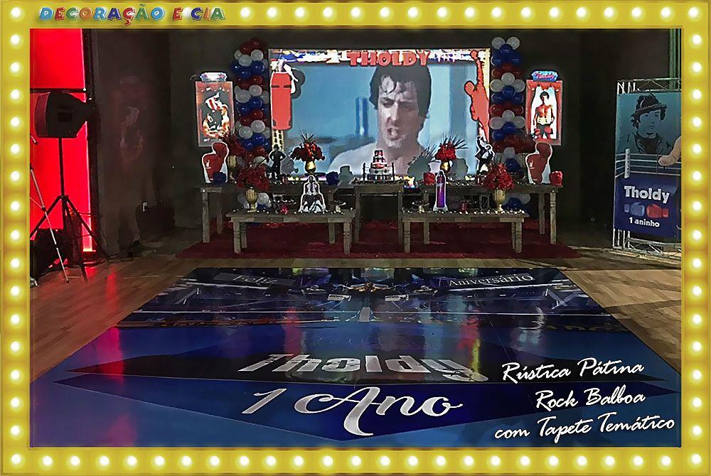 ..RÚSTICA PÁTINA –  Rock Balboa com Projeção e Tapete Temático