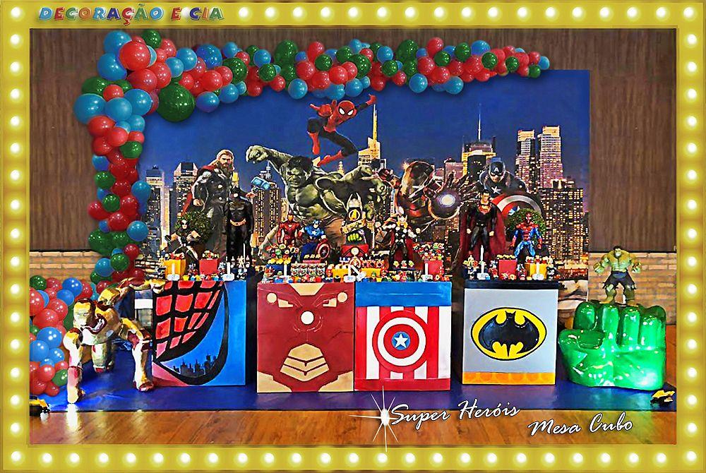 ..MESA CUBO – Super Heróis